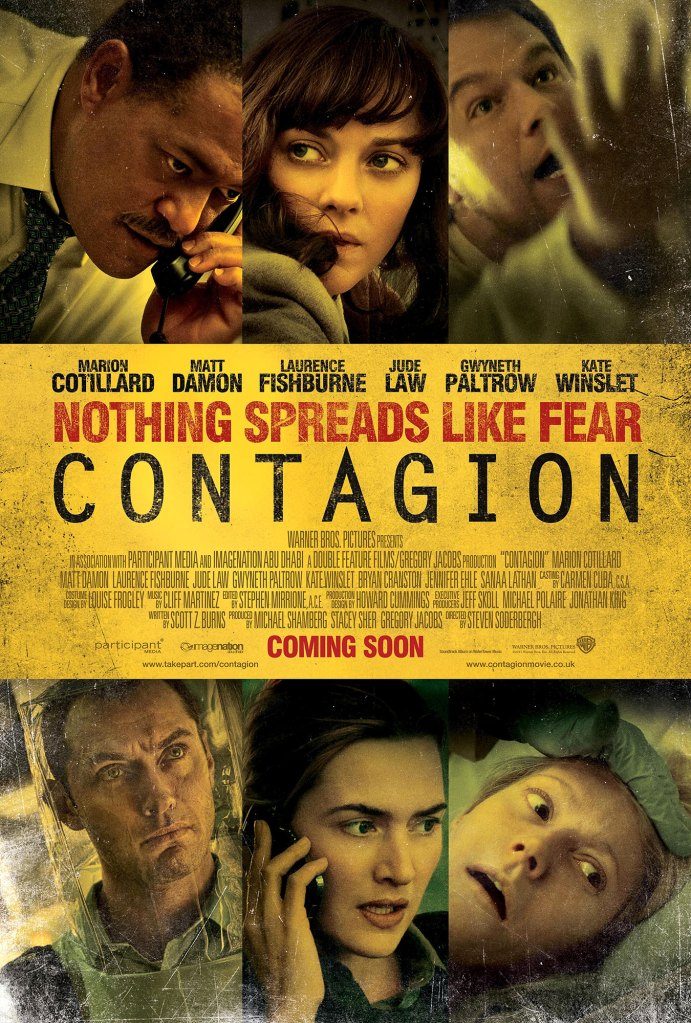 One Sheet Poster Contagion Cast Coronavirus Pandemic