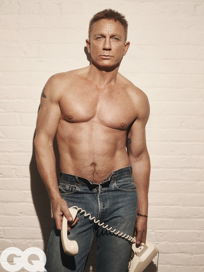 Daniel Craig GQ shirtless
