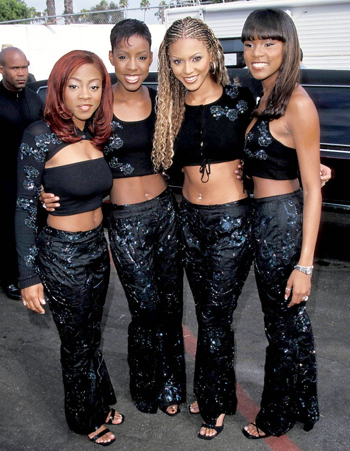 Destinys Child Kelly Rowland Letoya Luckett Beyonce Knowles and Latavia Roberson at the Soul Train Lady of Soul Awards in 1999