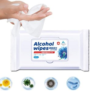 Disinfectant Wipes, 75% Alcohol Cleaning Wet Wipes (50 Pack)