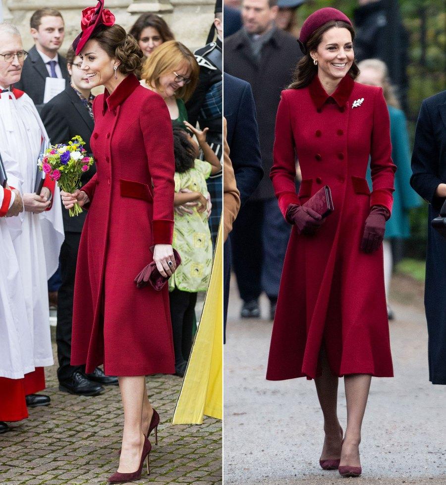 Duchess Kate Middleton Rewears Red Coat