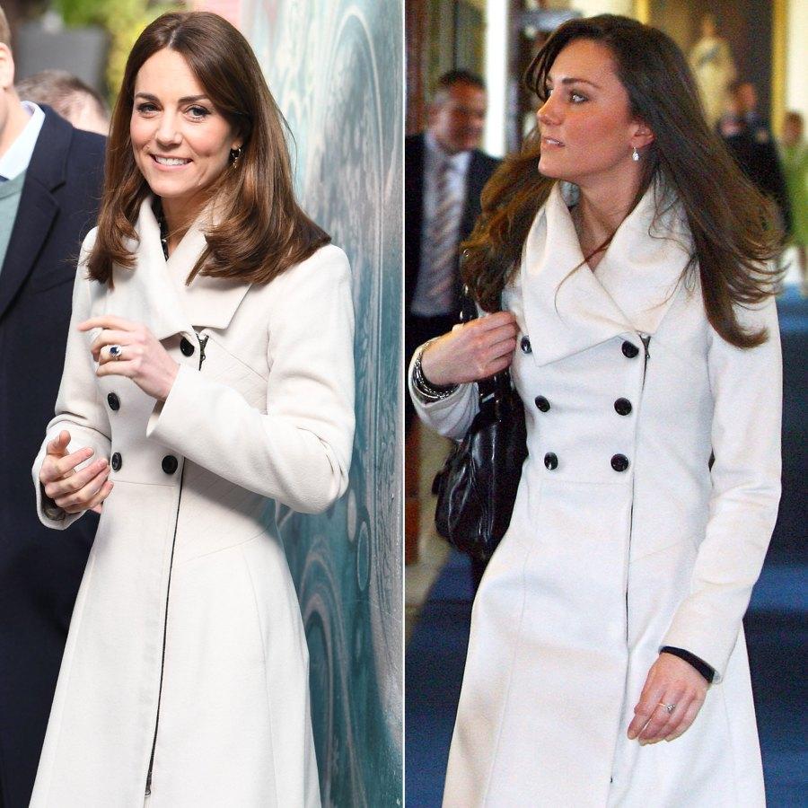 Duchess Kate Middleton's Style Rewears - White Reiss Coat