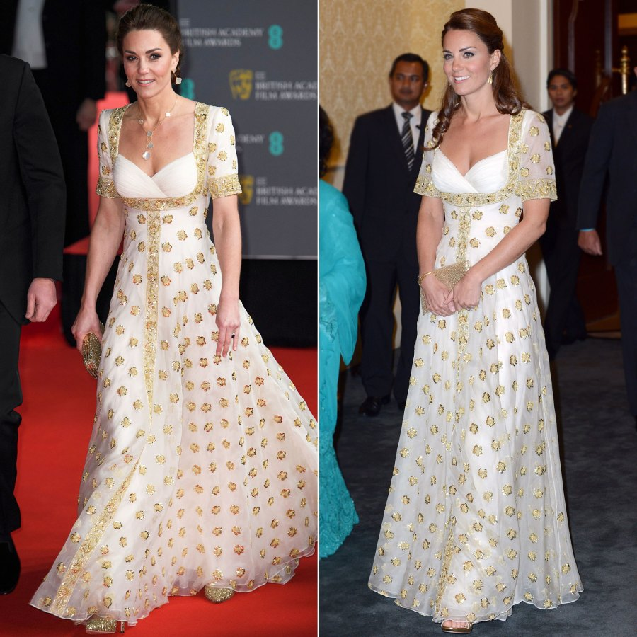 Duchess Kate Middleton's Style Rewears - Alexander McQueen Gown