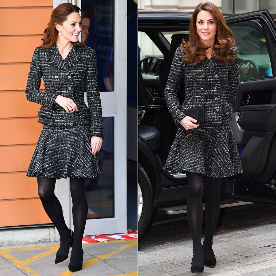 Duchess Kate Middleton's Style Rewears - Dolce & Gabbana Skirt Suit