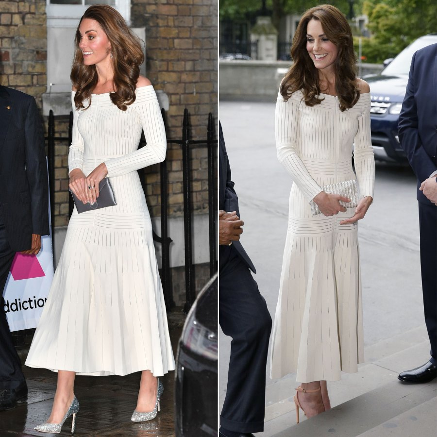 Duchess Kate Middleton's Style Rewears - Off-the-Shoulder Barbara Casasola Midi