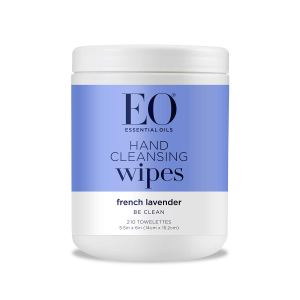 EO Essential Oils Hand Cleansing Natural Fiber Wipes (French Lavender)