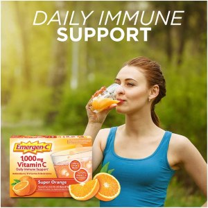 Emergen-C Vitamin C 1000mg Powder (60 Count Super Orange Flavor)