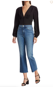 Frame Le Sylvie Kick Bootcut High-Rise Jeans