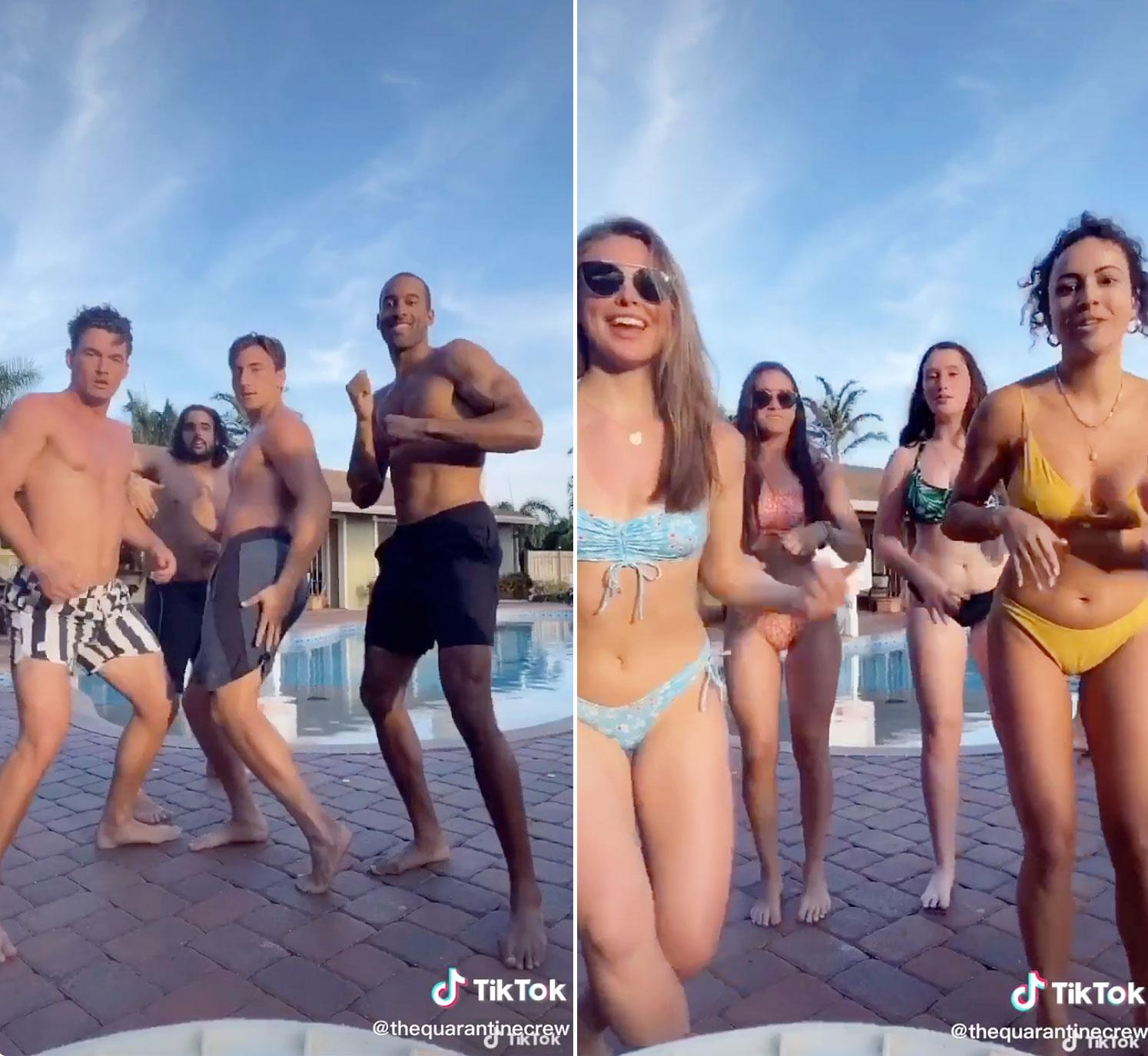 Tyler Cameron and Hannah Brown dance on TikTok