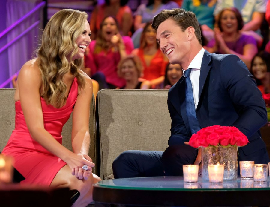 Hannah Brown and Tyler Cameron Think Rumors About Them Are Funny Bachelorette Red Dress
