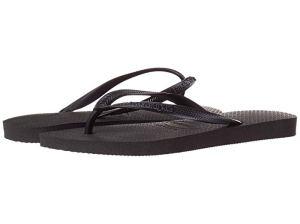 Havaianas Slim Flip Flops (Black)