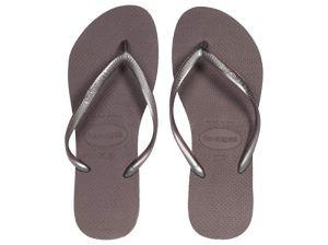 Havaianas Slim Flip Flops (Lilac Announce)
