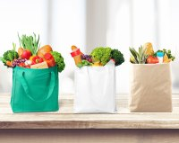 How Hilary Duff Is Teaching Her Kids About Sustainability reusable grocery bags