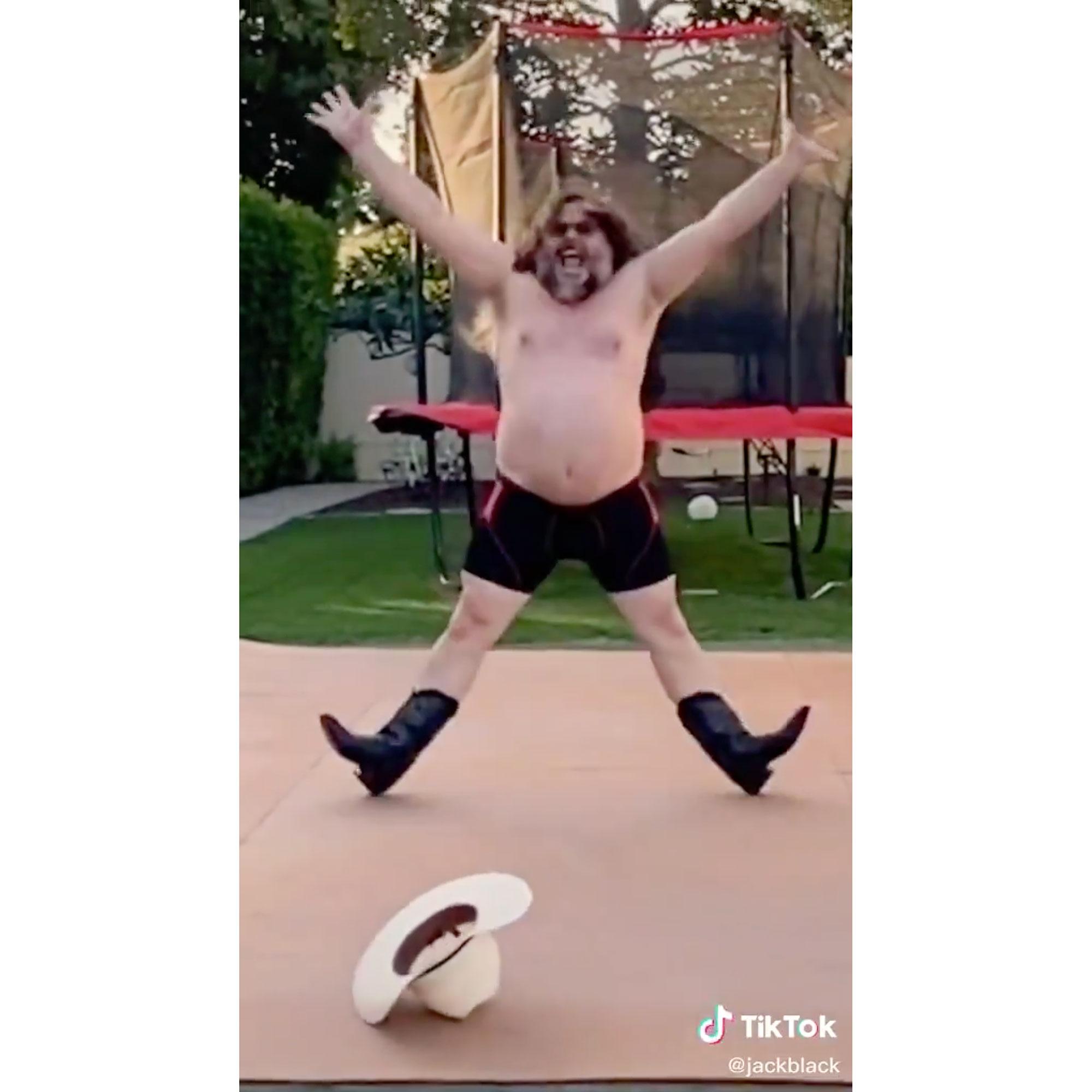 Jack Black Makes His Shirtless TikTok Debut