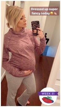 Jenna Cooper Baby Bump Instagram Story