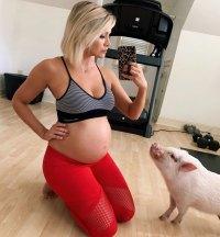 Jenna Cooper Instagram Momma's Little Workout Buddy