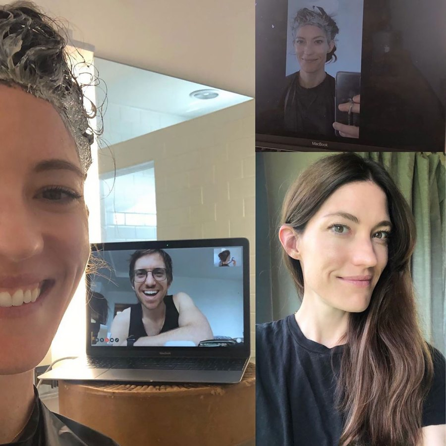 Jennifer Carpenter Covers Her 'Silvers' With Her Hairstylist on FaceTime