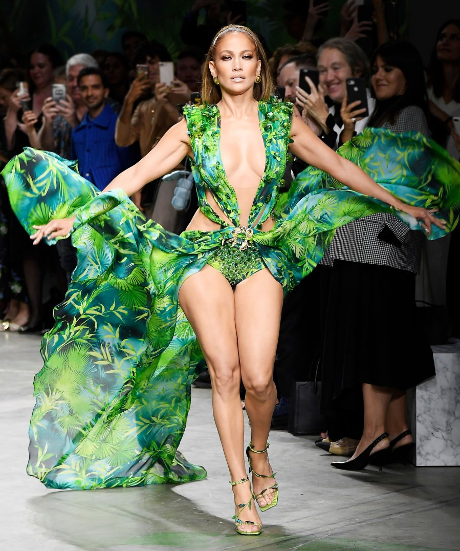 Jennifer Lopez Wears a New Totally Different Version of the Versace Jungle Print
