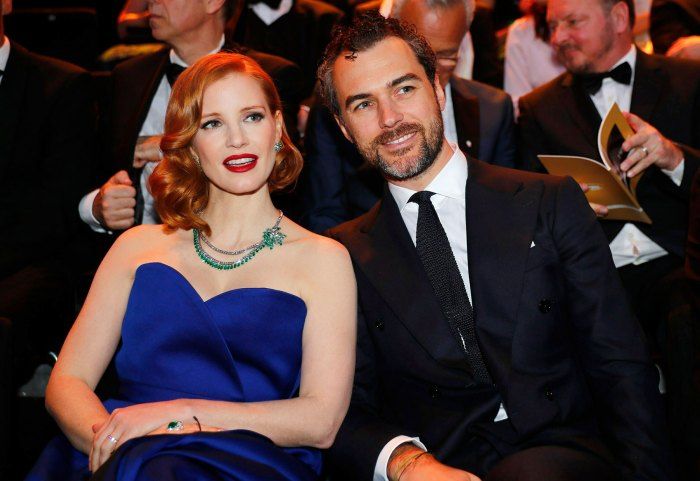 Jessica Chastain and Gian Luca New Child