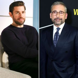 John Krasinski Stages Mini Office Reunion With Steve Carell
