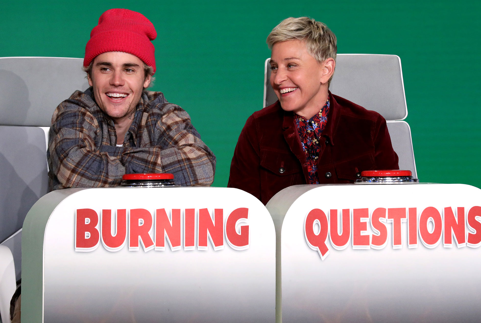 Justin Bieber and Hailey Bieber Ellen DeGeneres Show Same Pet Name