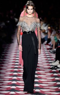 Kaia Gerber Paris Fashion Week Runway