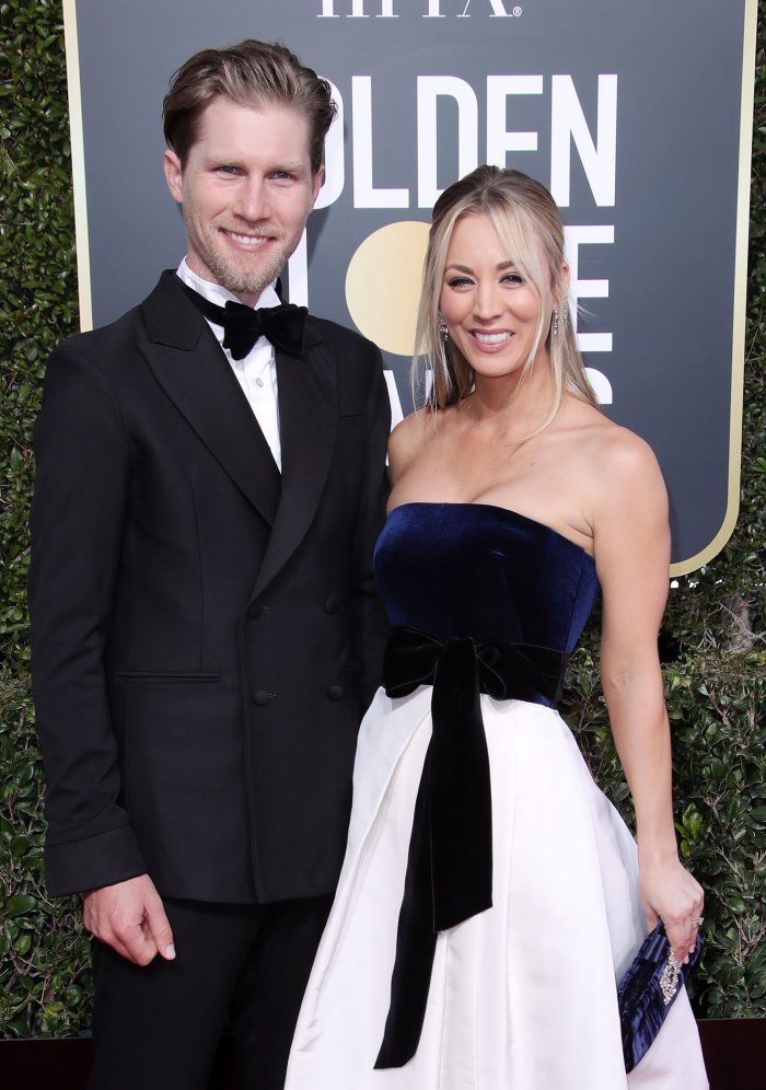 Karl Cook and Kaley Cuoco 76th Annual Golden Globe Awards