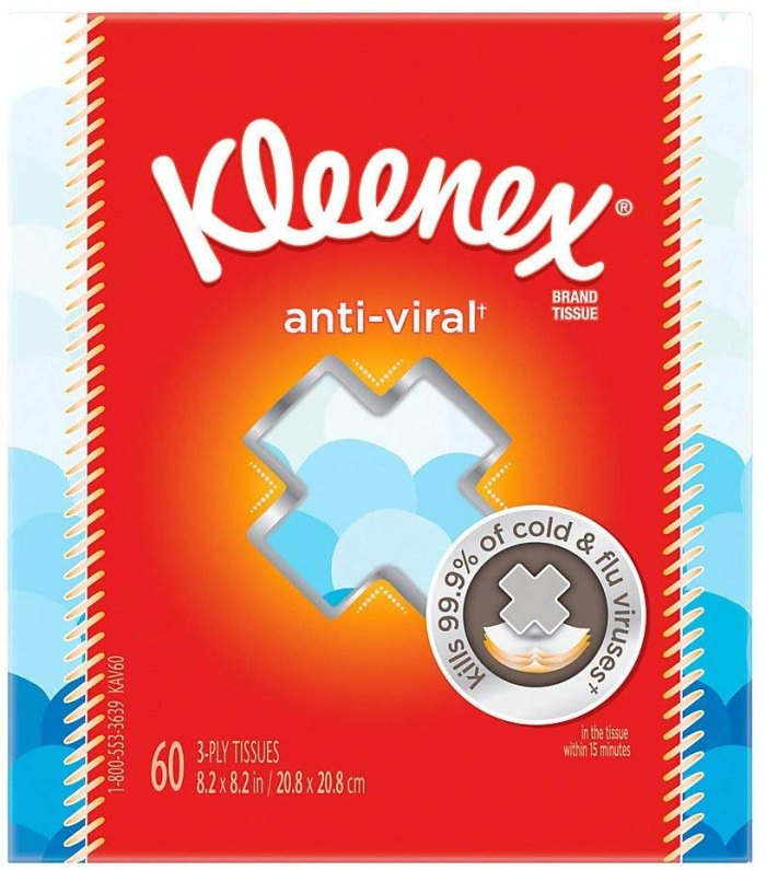Kleenex Anti-Viral Facial Tissues