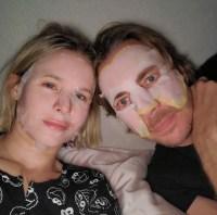 Kristen Bell and Dax Shepard mask