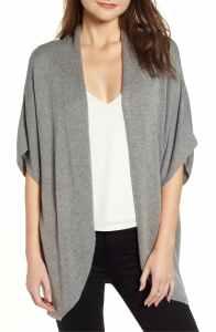 Leith Dolman Sleeve Cardigan (Grey Cloud Heather)