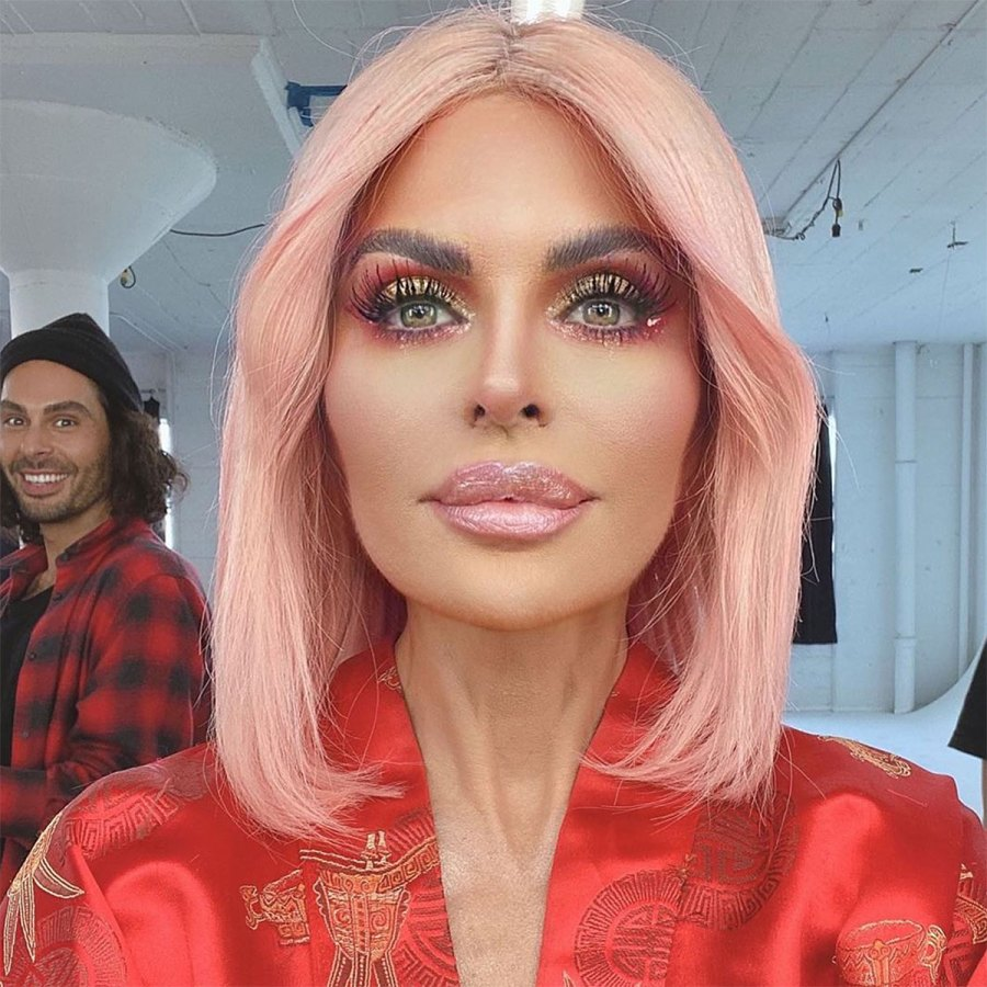 Lisa Rinna Looks Like an Intergalactic Goddess With Pink Hair