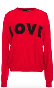 Love Moschino Intarsia-knit Sweater (Red)