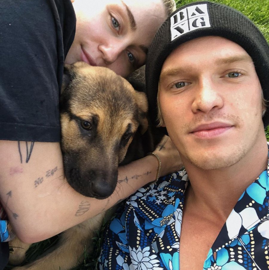 Miley Cyrus and Cody Simpson Introduce Fans to New Pup