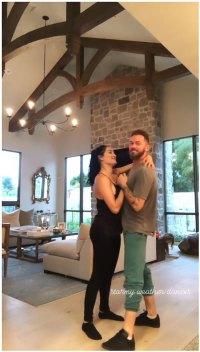 Nikki Bella and Artem Chigvintsev Slow Dancing Instagram Story