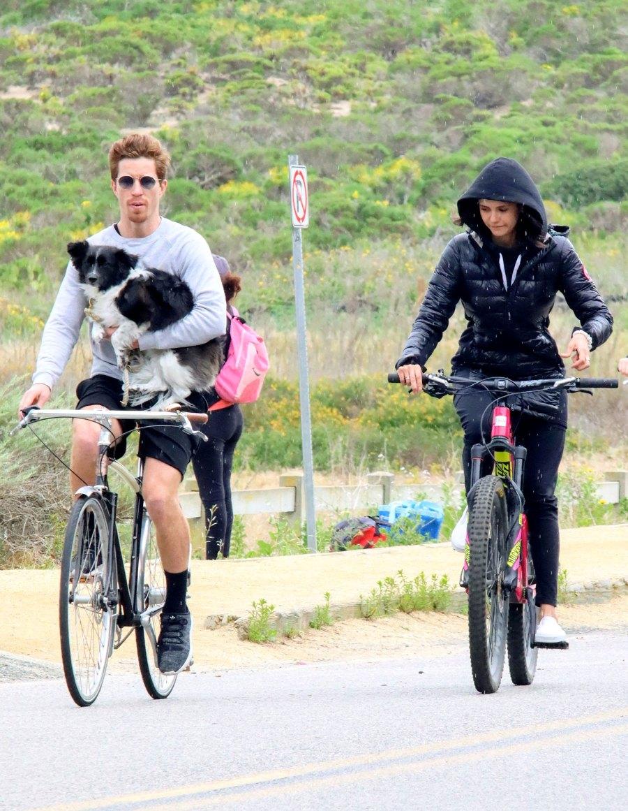 Nina Dobrev and Shaun White Spotted Biking in Malibu