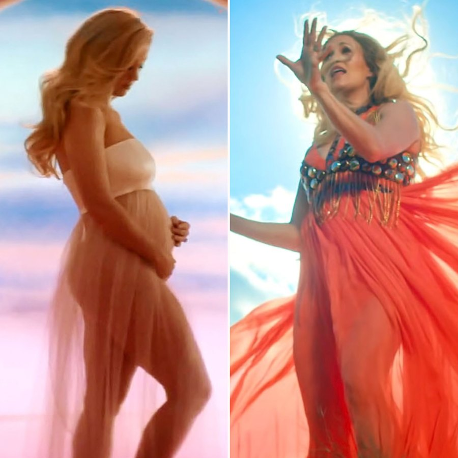 Pregnant Celebrities Showing Baby Bumps Music Videos