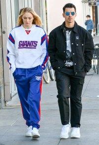 Pregnant Sophie Turner and Joe Jonas Shop at Kids Store New York Giants Sweater
