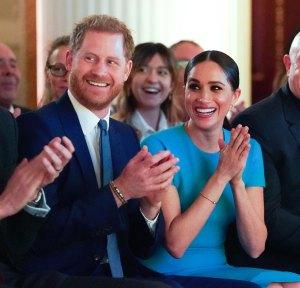 Prince Harry Meghan Markle Goof Off After Tense Royal Reunion