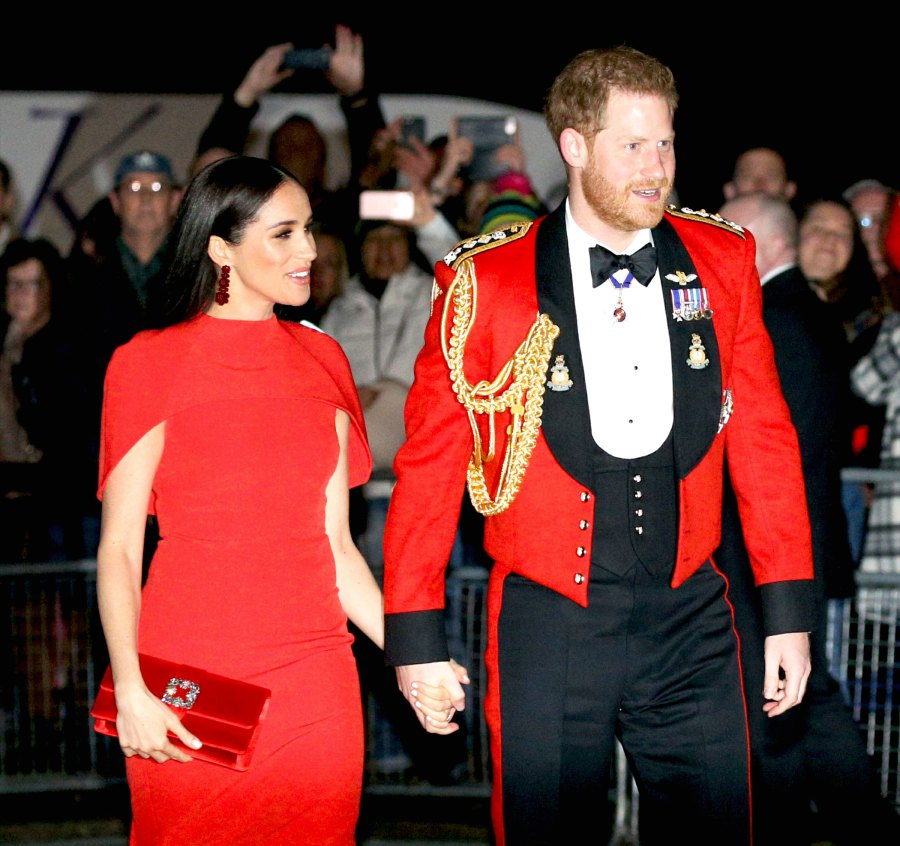 Prince Harry and Duchess Meghan Hold Hands in Matching Red at Festival of Music