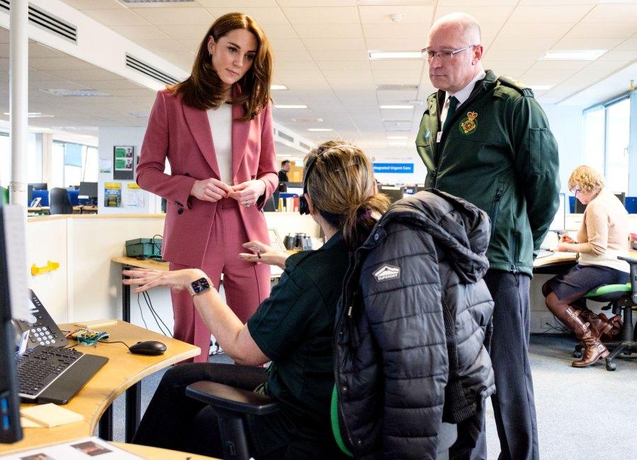 Prince William Duchess Kate Visit Emergency Call Center During Coronavirus