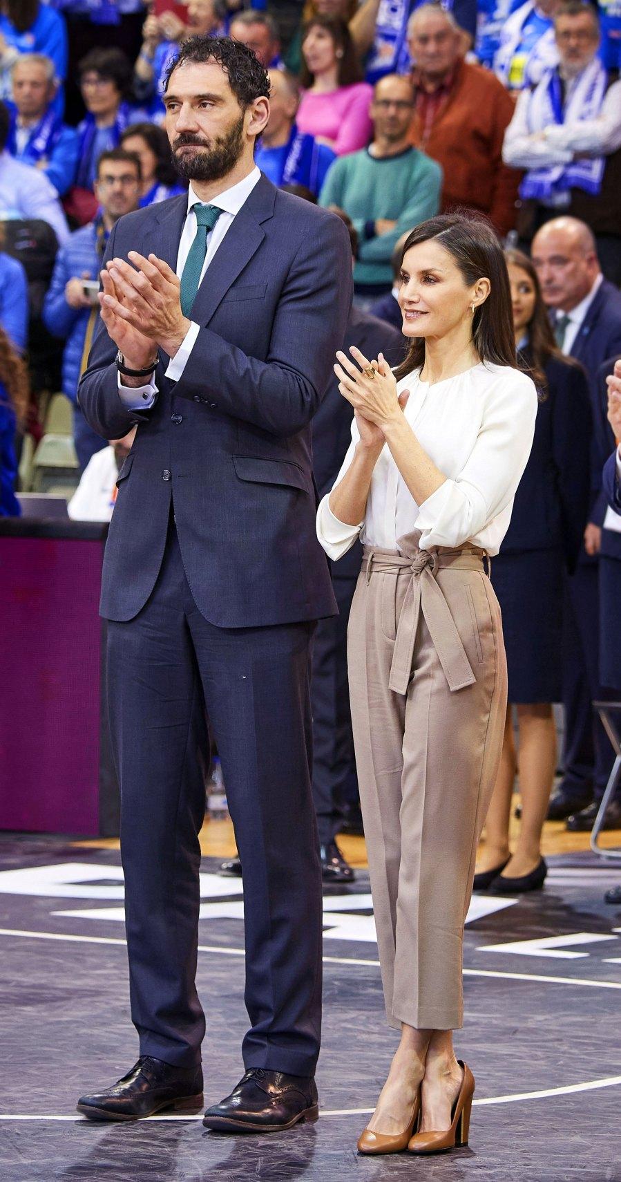 Queen Letizia Khaki Pants March 8, 2020