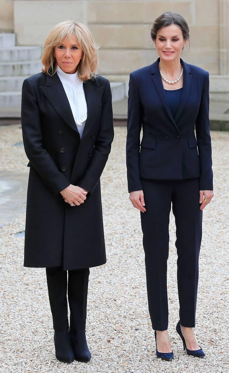 Queen Letizia Navy Suit March 11, 2020