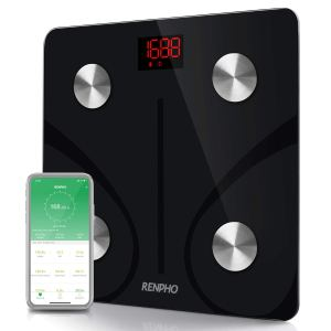 RENPHO Bluetooth Body Fat BMI Smart Scale with Smartphone App (Black)