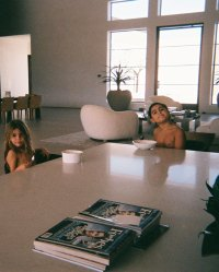 Reign Disick and Mason Disick Eating Breakfast