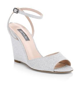 SJP by Sarah Jessica Parker Boca Glitter Wedge Sandals