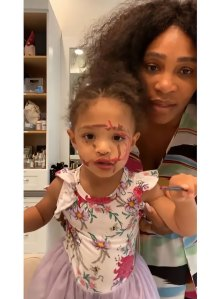 Watch Serena Williams' Daughter Olympia Adorably Do Her Own Makeup
