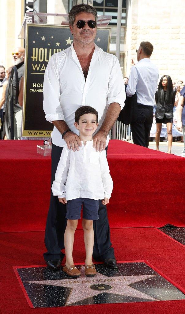 Simon Cowell and Son Eric Walk of Fame