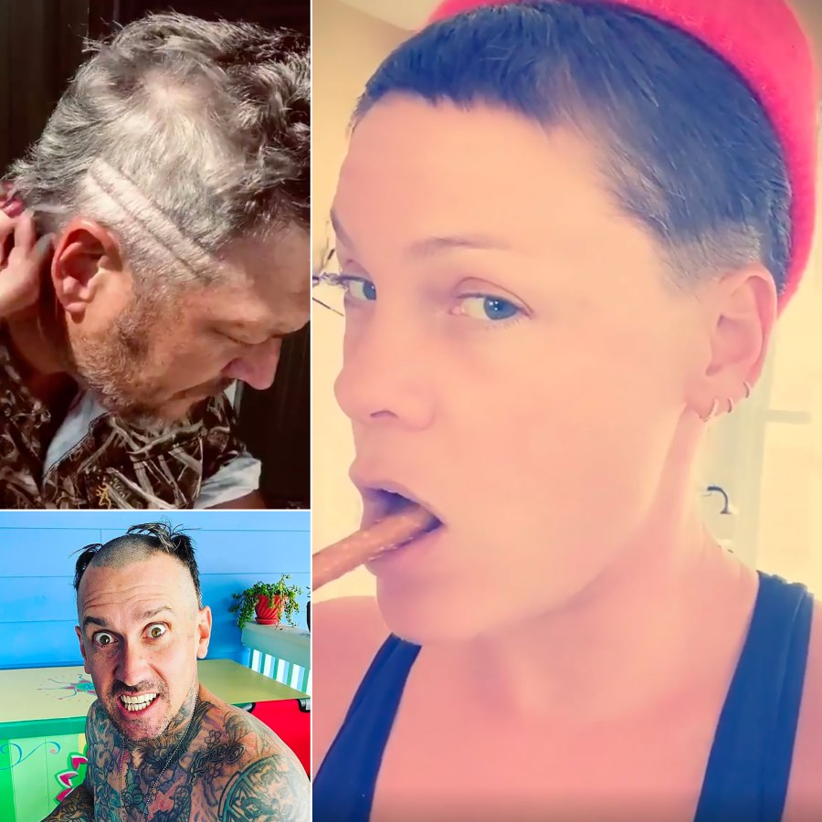 Celebs Doing At-Home Haircuts During COVID-19 Crisis