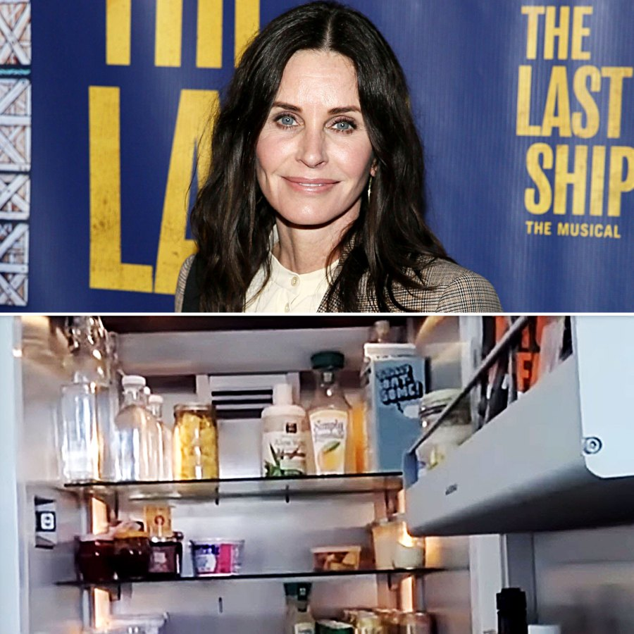 Courteney Cox Stars Meticulously Organized Fridges and Pantries
