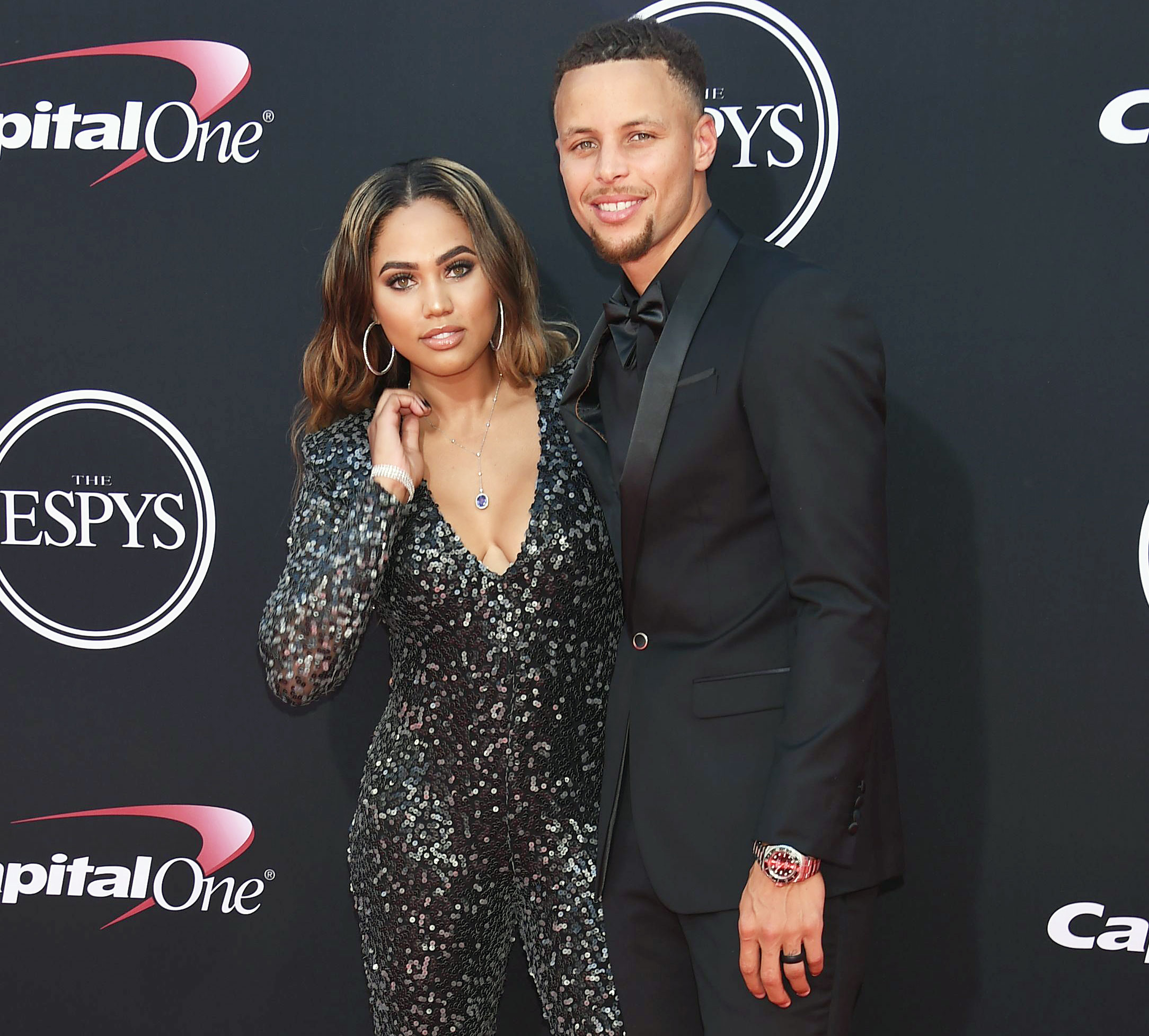 Ayesha Curry and Stephen Curry attend the ESPY Awards Ayesha Curry Looks Ahead After Temporary Closure of Her Restaurants